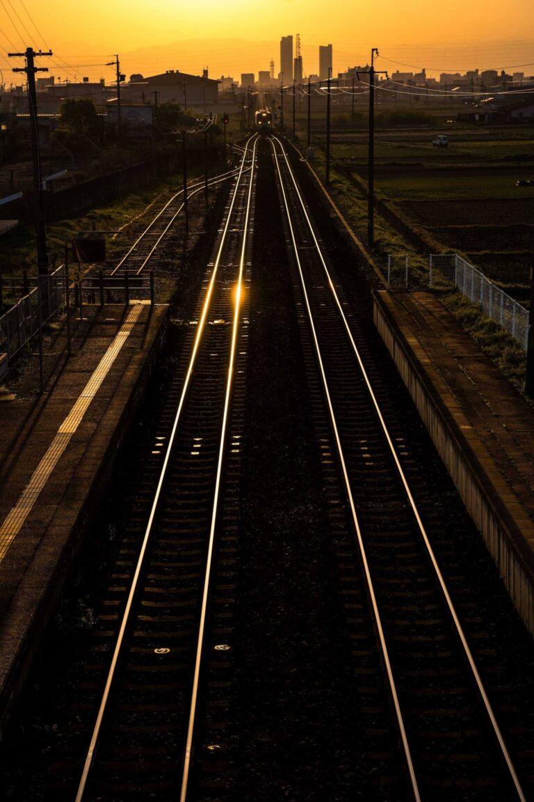 長森駅から見る夕景