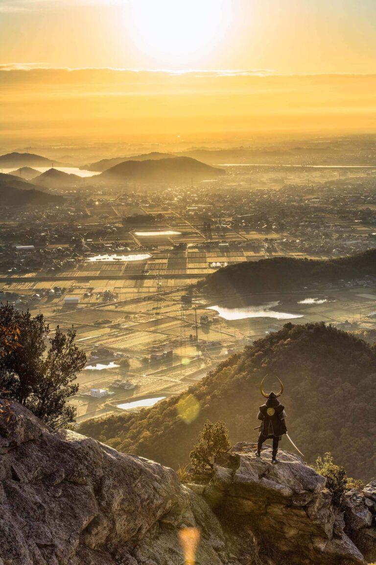 高御位山から見る日の出(兵庫県)
