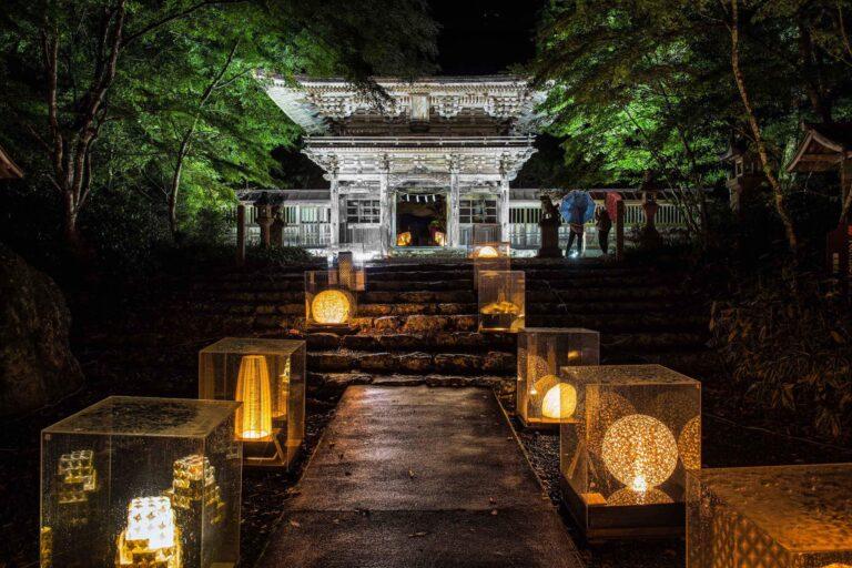 大矢田神社と美濃和紙アート