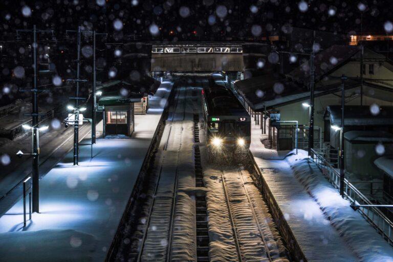 冬の飛騨古川駅(岐阜県)