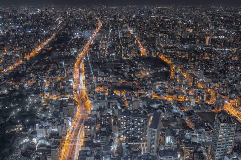 アベノハルカスから見る夜景(大阪府)