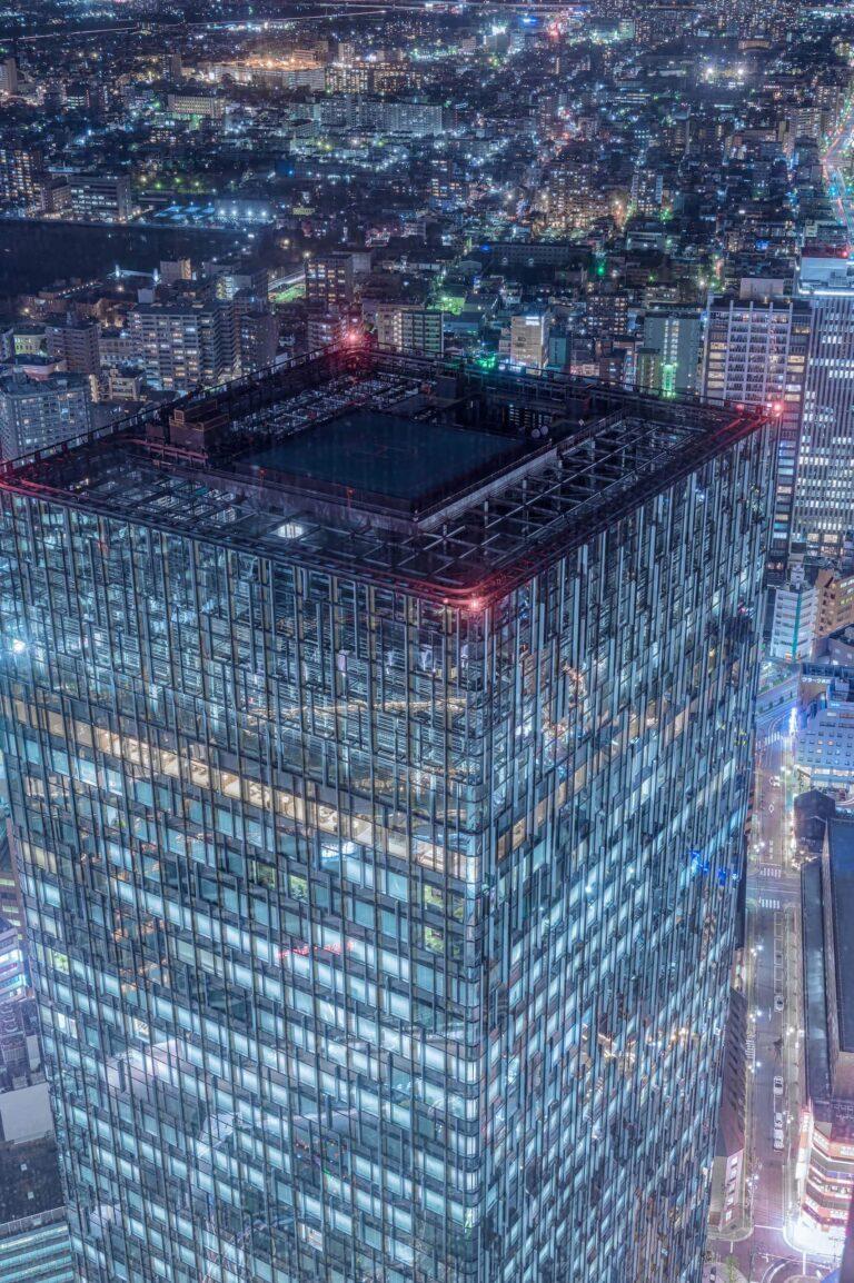 ミッドランドスクエア スカイプロムナードから見る夜景(愛知県)