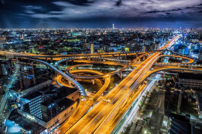 東大阪市役所から見る夜景(大阪府)